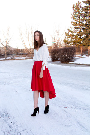 Zara top - Nine West boots - asos skirt