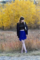 asos skirt - Dynamite blazer - Zara sandals - Urban Outfitters top