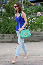 botkier bag - 7 for all mankind jeans - Urban Outfitters sunglasses