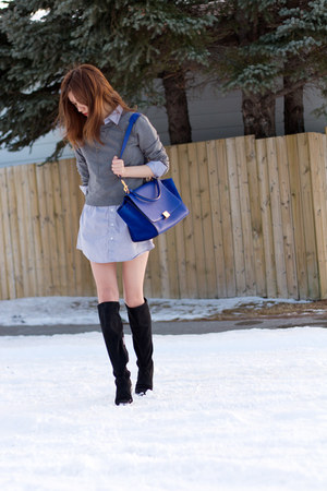 calvin klein boots - American Apparel dress - Celine bag