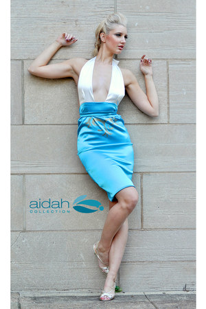 satin halter aidah collection dress