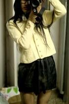 sweater - socks - glasses - skirt - tie - accessories