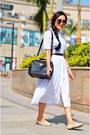 Vintage-belt-aj-belt-white-60s-dress-aj-dress-forever21-sunglasses