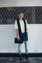 navy blue jabong vest