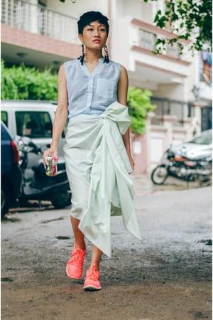 red Tarini Nirula bag - aquamarine aj store skirt