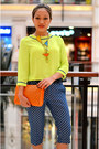 Orange-clutch-bysi-bag-bysi-pants-waist-bysi-belt-neon-bysi-top