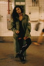 Patent-leather-boots-military-jacket-jacket-abve-the-knee-socks
