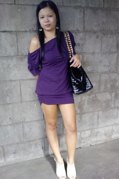 Purple Dress White Parisian
