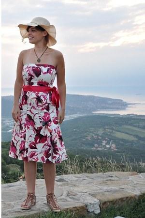 pink  dress - tawny Zara shoes - nude  hat