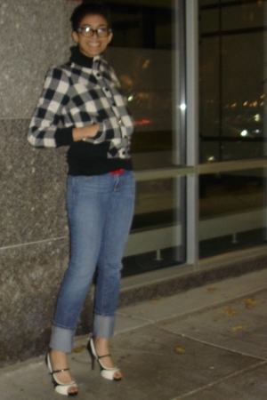 forever 21 jacket - Express belt - Department of Peace jeans - Carlos by Carlos