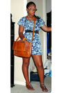 Brown-dsw-shoes-brown-vintage-bag-blue-forever-21-dress