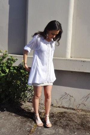 free people dress - H&M dress - Rampage sandals - handmade bracelet
