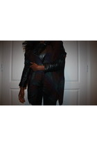 black Kurt Geiger boots - black H&M Trend jeans - black Miss Selfridge jacket
