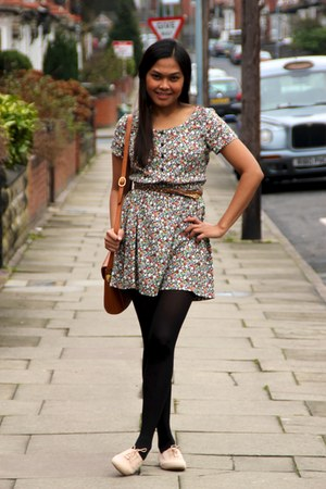 H&M dress - vintage bag - Zara belt - Primark flats