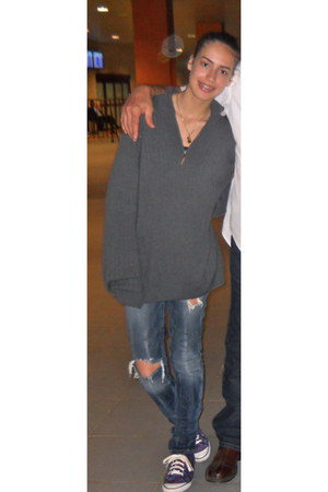coach shoes - Guess jeans - dads sweater - Dillards shirt