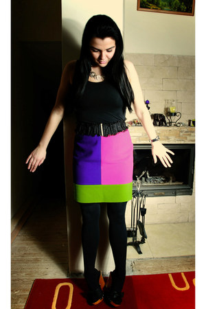 united colors of benetton skirt - united colors of benetton wedges - Accessorize