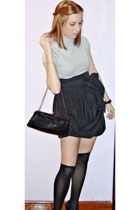 Cortefiel skirt - Calzedonia socks - Bimba & Lola shoes - fridays proyect purse