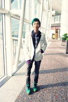 white sm department store blazer