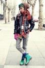 Aquamarine-dr-martens-boots-dark-khaki-hand-woven-baguio-city-hat