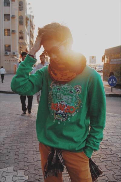 green Kenzo sweater