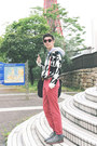 Red-topman-jeans-black-dongdaemun-thrifted-sweater