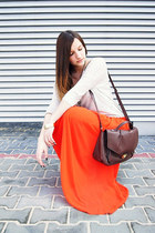 carrot orange Sheinside skirt