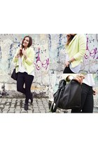 light yellow Mosquito jacket - black Zara bag - black H&M panties