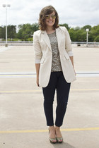 boyfriend Forever 21 blazer - sequin tank The Limited shirt