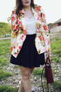 Light-orange-floral-zara-blazer-tawny-structured-mini-coach-bag