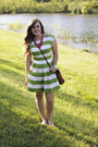 Hot-pink-beads-target-necklace-chartreuse-stripes-love-21-dress