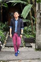 lanvin shoes - Zara jeans - vintage blazer - Zara shirt