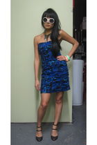 blue BB Dakota dress - black Melissa shoes - Akira accessories