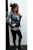 blazer - leggings - belt