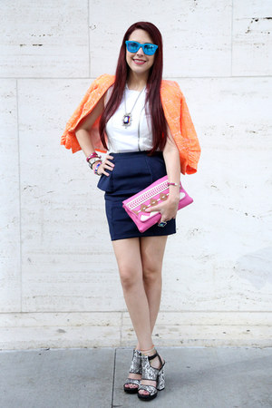 Orange-texture-xoxo-jacket-bubble-gum-boho-jessica-simpson-bag