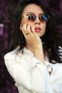 White-choies-dress-beige-cateye-uo-sunglasses-silver-choies-earrings