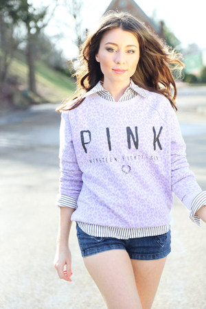light purple victorias secret pink sweatshirt