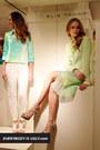 lime green Elie Tahari skirt