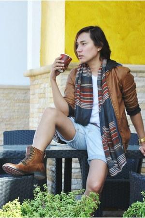brown Zara boots - brown Zara jacket