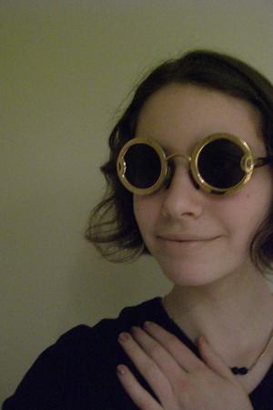 gold christian dior sunglasses