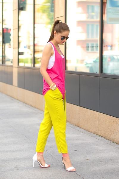 yellow H&M pants