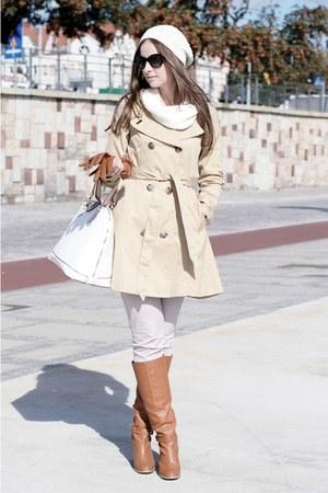 tawny H&M boots - tan H&M coat