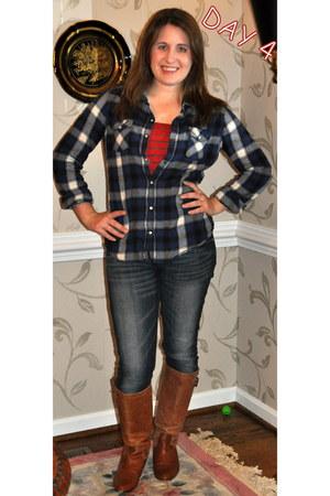 Steve Madden boots - Levis jeans - Target shirt - Forever 21 top
