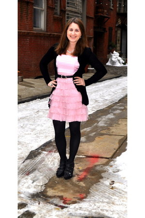 Betsey Johnson dress - kohls tights - kohls cardigan - Simply Vera Vera Wang hee