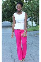 pink New York and Company pants - self-made purse