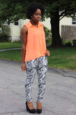 tribal print H&M pants