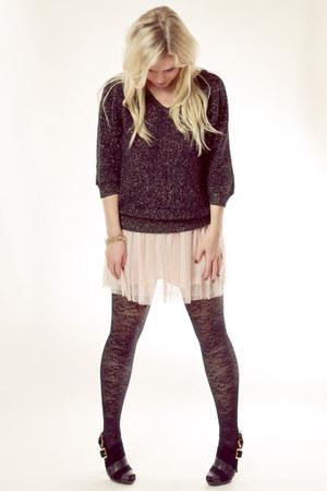 vintage sweater - Forever 21 skirt - Michael Kors heels