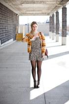 vintage cardigan - H&M romper