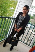 602c886e7136 black H&M blazer - gray Forever 21 shirt - black Forever 21 leggings -  black For