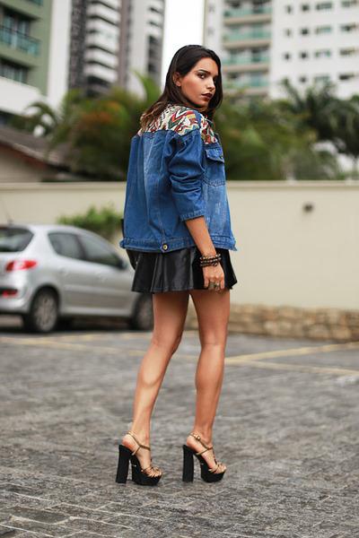 denim jacket Sheinside jacket - Euginia Gamero bag