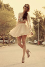 Ivory-chicwish-skirt-heather-gray-tvz-heels